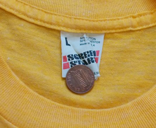 Vintage Talking Heads t-shirt 1980s Promo M 80s Concert tee