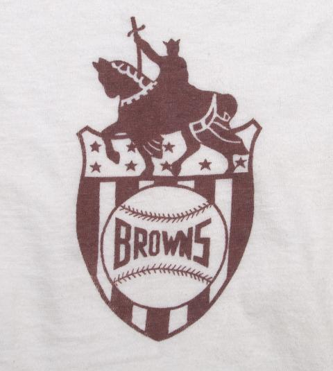 VINTAGE ST LOUIS BROWNS BASEBALL SHIRT ORIGINAL 40S/50S