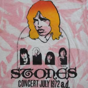VINTAGE RARE ROLLING STONES 1972 CONCERT T-SHIRT 70s SMALL S