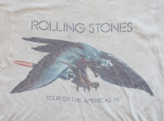VINTAGE ROLLING STONES SHIRT TOUR OF THE AMERICAS 1975 S