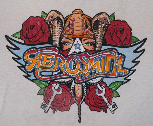 VINTAGE AEROSMITH PERMANENT VACATION 86 TOUR T-SHIRT L