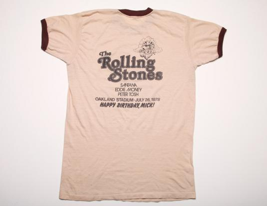 Vintage Rolling Stones T-shirt Day on the Green 1978 Rare L