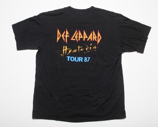 VINTAGE DEF LEPPARD CONCERT T-SHIRT HYSTERIA TOUR 1987 XL