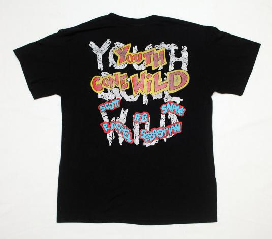 VINTAGE SKID ROW YOUTH GONE WILD PROMO T-SHIRT 1989 L 80S