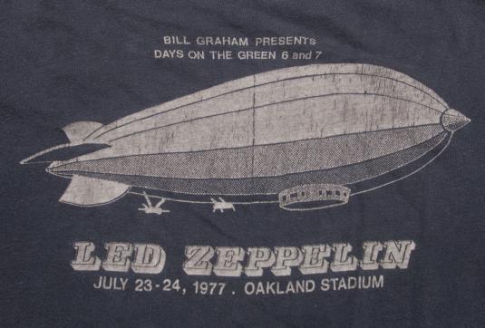 VINTAGE ORIGINAL LED ZEPPELIN T-SHIRT 1977 DAY ON THE GREEN