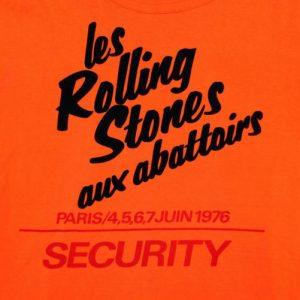 VINTAGE ROLLING STONES SHIRT 1976 ORIGINAL PARIS CONCERT TEE