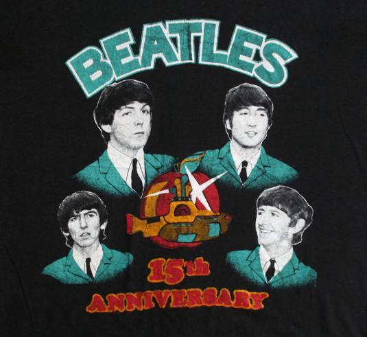 Original Beatles Shirt Vintage 1970s Fab Four Lennon Tee