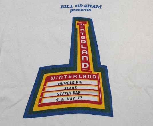 VINTAGE HUMBLE PIE WINTERLAND T-SHIRT ORIGINAL 1973 SLADE L