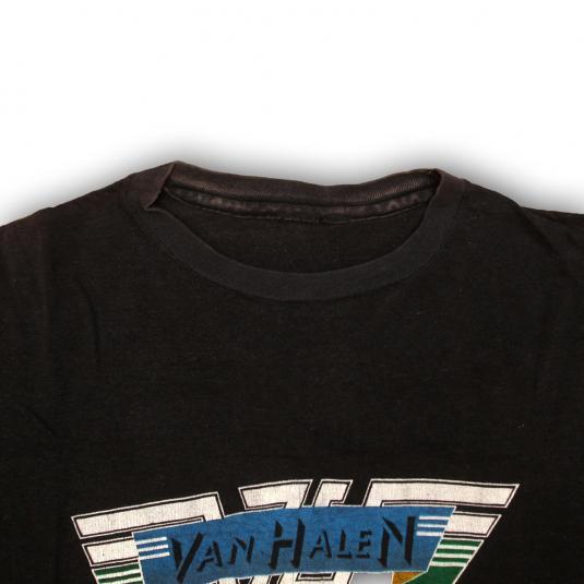 VINTAGE VAN HALEN 1980 PROMO SHIRT CONCERT TEE 80S SMALL S