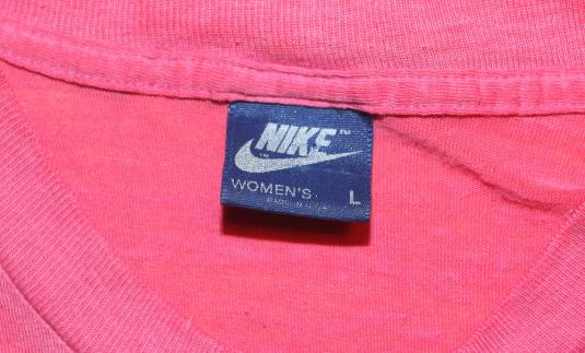 VINTAGE WOMEN'S NIKE BLUE TAG T-SHIRT TEE 80s 1980s M