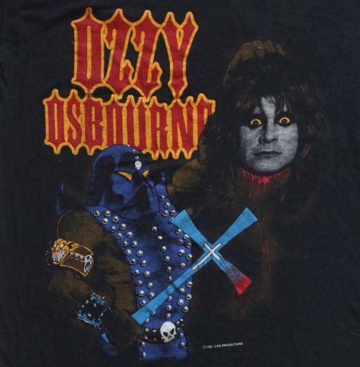 Vintage Ozzy Osbourne T-Shirt Original Black Sabbath 1980s S