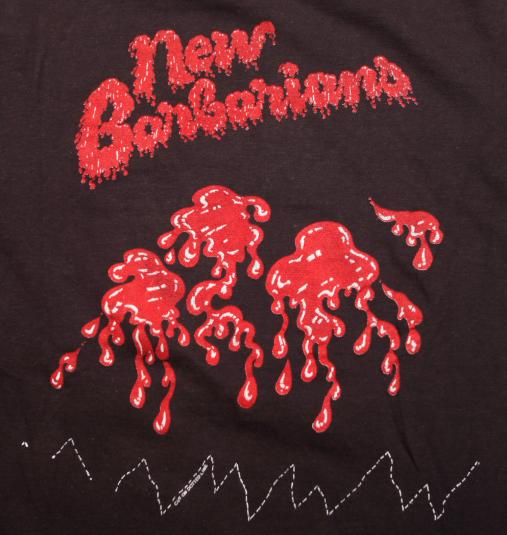 VINTAGE NEW BARBARIANS T-SHIRT 1970S 70S ROLLING STONES