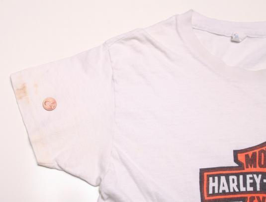 VINTAGE HARLEY DAVIDSON SHIRT 1970S 70SHD EMBLEM CLASSIC