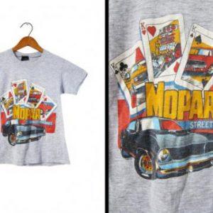 Vintage 80s MOPAR Street Machines T-shirt Heather Grey