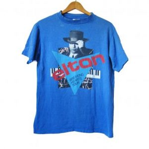 Vintage Elton John T-shirt 1984 Breaking Hearts Tour Shirt