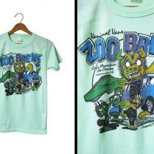 Vintage Vanimal Vans T-shirt Mint 1986 - Men's XS