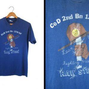 Vintage Vietnam T-shirt Raw Steel 2nd Battalion - Mens Small