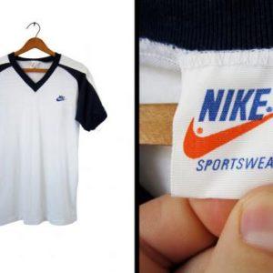 Vintage 80s Nike Raglan Tshirt Orange Tag Deadstock