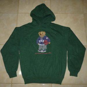Vintage Polo Bear Basket Ralph Lauren Hoodie Sweatshirt