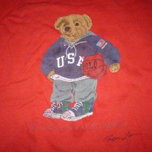 Vintage Polo Bear Basket Ball Ralph Lauren Sweatshirt