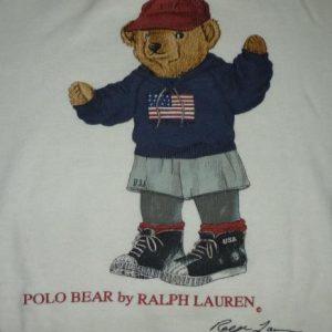 Vintage Polo Bear Ralph Lauren USA Flah Sweatshirt