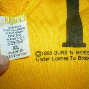 Vintage Guns N Roses Security T-Shirt