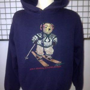 Vintage Polo Bear Ski by Ralph Lauren Hoodi Sweatshirt