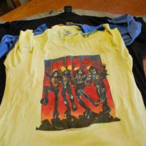 "Vtg.Kiss 1976 ""Destroyer Tour""T-shirt"