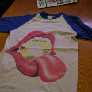 "Vtg.1972 Rollng Stones ""Happy"" T-shirt"