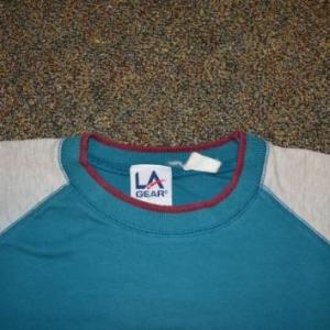 VTG 80s 90s T-Shirt LA GEAR Hip Hop Color Block XL