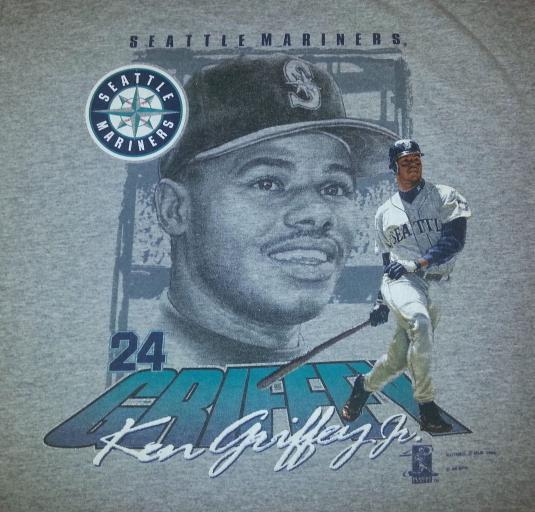 VTG 90s KEN GRIFFEY JR T-Shirt MLB Seattle Mariners Baseball