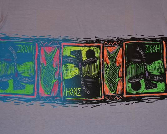 Vintage 90s HOBIE Wrap-Around Print T-Shirt Neon – XL
