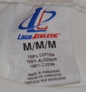 Vintage 90s LOGO ATHLETIC NHL NJ Devils Hockey T-Shirt - M