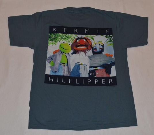 Vintage 90s Muppets Hilfiger Parody Hip Hop T-Shirt – L