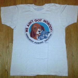 70s Associated Humane Societies T-Shirt Dog Puppy Kitten M/L