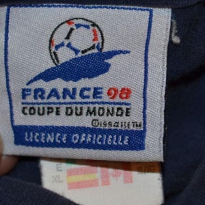 Vintage 90s France 98 Adidas Tee FIFA World Cup Soccer XL