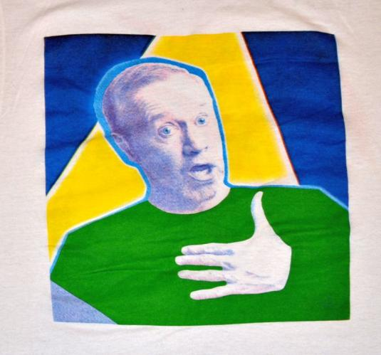 Vintage 80s George Carlin Concert Fuji Tape T-Shirt- M