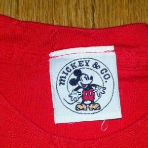 VTG 90s MICKEY & CO All American T-Shirt Disney Mouse Sz L