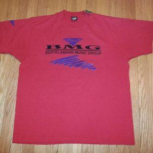 VTG 80s 90s BMG T-Shirt Bertelsmann Music Group Sz XL