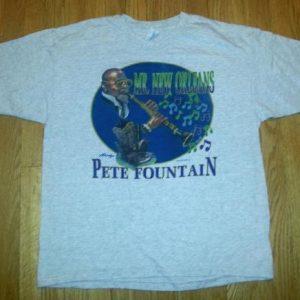 1994 Pete Fountain T-Shirt 90s Mr. New Orleans Blues Tee XL