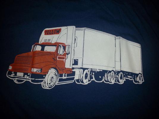 80s Yellow Freight Trucking Semi Tractor Trailer Trucker L