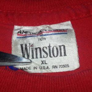90s Winston Pocket Tee T-Shirt Metallic Eagle Cigarettes XL