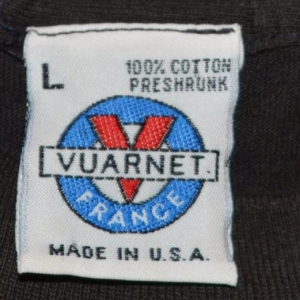Vintage 80s 90s VUARNET T-Shirt Logo France Sunglasses Sz L