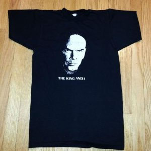 VTG 70s KING AND I T-Shirt Yul Brynner Broadway Anna Sz S