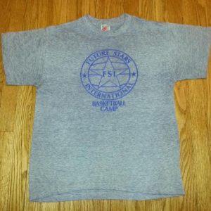80s Basketball Camp T-Shirt Nike Gray Tag Sz L