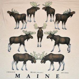 Vintage 90s Mooseville Maine Moose T-Shirt - S/M