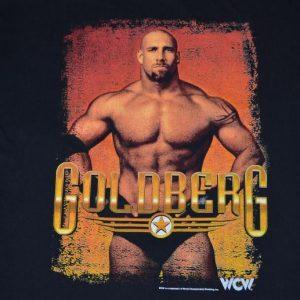 VTG 90s T-Shirt WCW Goldberg WWF Wrestling Fits XL to XXL