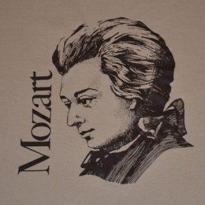 Vintage 80s Mozart T-Shirt Classical Music Symphony - M, L