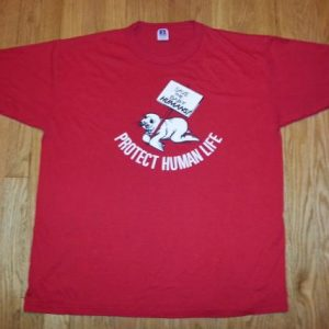 80s Anti-Abortion T-Shirt Controversial Baby Seal Clubbing