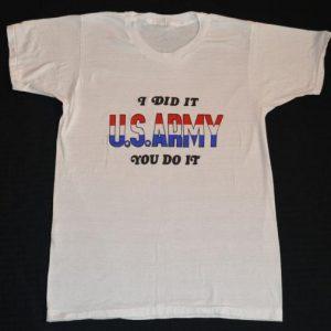 VTG 70s T-Shirt Army Anti Protester Military Sz M